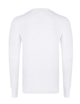 imagem de Camisola Homem Branco/Azul Navy4