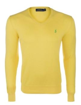 imagem de Pullover decote em V Amarelo e Verde Homem1