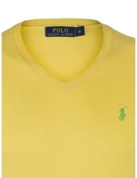 imagem de Pullover decote em V Amarelo e Verde Homem2