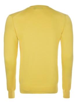 imagem de Pullover decote em V Amarelo e Verde Homem4