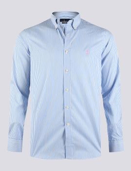 imagem de Camisa Homem Azul/Branco1