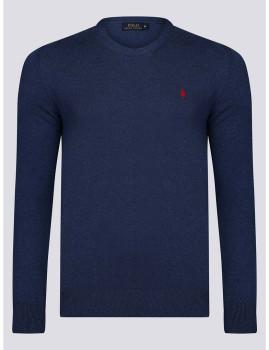 imagem de Camisola Homem Azul Indigo/Vermelho1