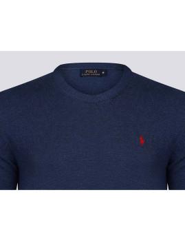 imagem de Camisola Homem Azul Indigo/Vermelho3