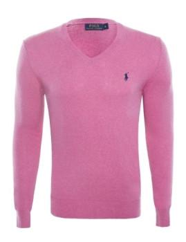 imagem de Pullover Decote em V Rosa Mesclado Homem Ralph Lauren1