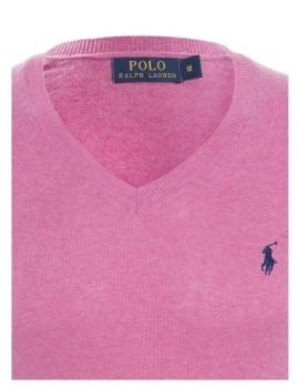 imagem de Pullover Decote em V Rosa Mesclado Homem Ralph Lauren3