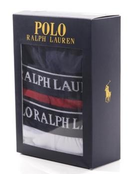 imagem de Pack 3 Boxers Ralph Lauren  Azul Marinho / Vermelho / Branco1