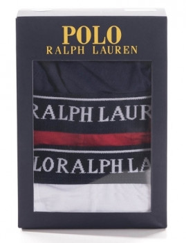 imagem de Pack 3 Boxers Ralph Lauren  Azul Marinho / Vermelho / Branco2