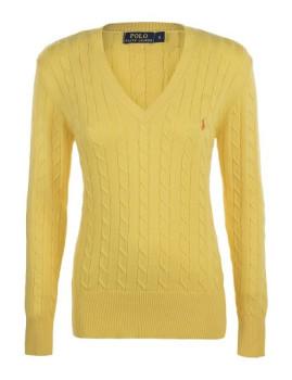 imagem de Pullover Com decote V De Senhora Amarelo1
