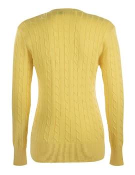 imagem de Pullover Com decote V De Senhora Amarelo3