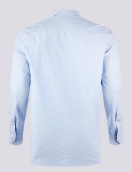 imagem de Camisa Homem Azul /Riscas Branco2