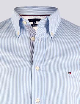 imagem de Camisa Homem Azul /Riscas Branco4