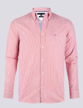 imagem de Camisa Homem Vermelho/ Riscas Branco1