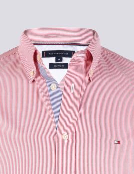 imagem de Camisa Homem Vermelho/ Riscas Branco4