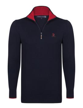 Pullover Giorgio di Mare Azul Marinho/Vermelho
