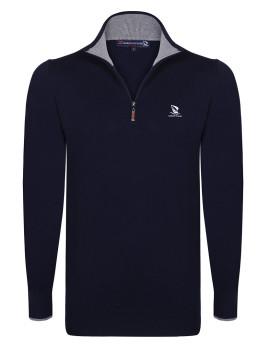 Pullover Giorgio di Mare Azul Marinho/Cinzento