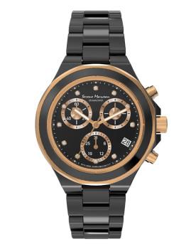 Relógio   Preto  com detalhe em diamante