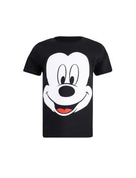 T-shirt Disney Mickey Face Criança Preto
