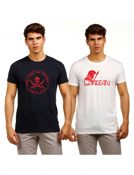 imagem de Pack T-Shirts Azul Marinho e Branco1