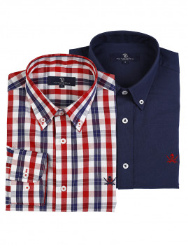 imagem de Pack Camisas Multicor e Azul Marinho1