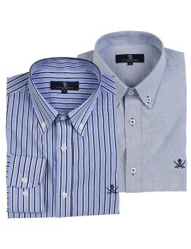 imagem de Pack Camisas Azul e Cinza1
