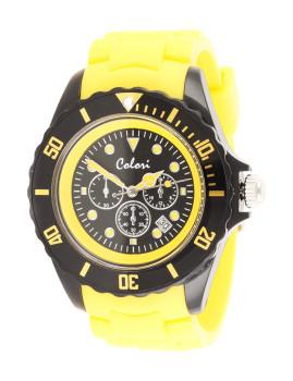 Relógio Colori Amarelo&Preto