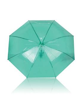 Chapéu-de-chuva transparente / Verde