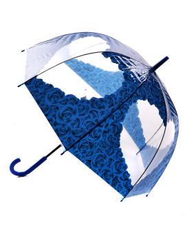 Chapéu de Chuva Coração em flores azuis