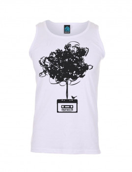 Camisola de Cavas Cassette Tree Branco