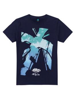 T-shirt Looking Up Azul Navy