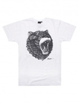 T-shirt Grizzly Branco
