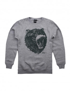 Sweatshirt Grizzly Cinza Mesclado