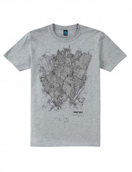 T-shirt From Above Cinza Sports
