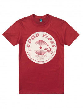 T-shirt Good Vibes Vermelho escuro