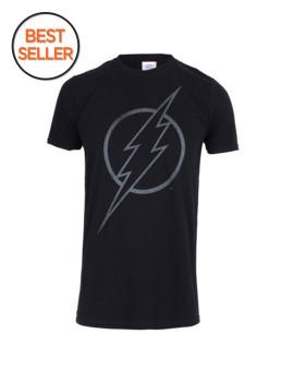 T-shirt Adulto Flash Line Logo Preta