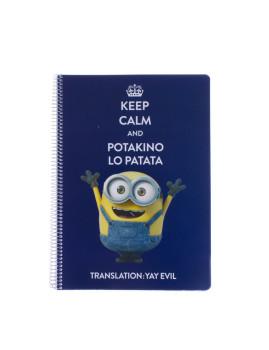 Caderno A4 Keep Calm Minions I
