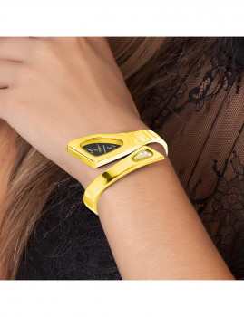 imagem de Relógio Dourado SC Bohemian com Cristais Swarovski® e pulseiras2