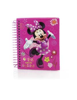 Caderno  12,5x15,5cms Minnie Rosa