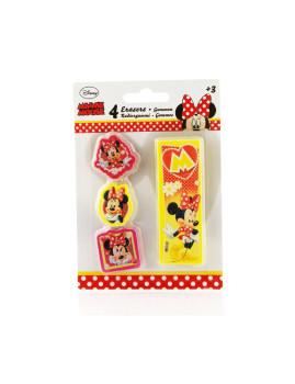 Pack 4 Borrachas Minnie