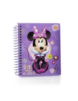 Caderno  12,5x15,5cms Minnie Roxo