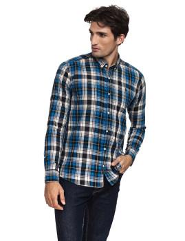 Camisa Javier Larrainzar Homem Azul