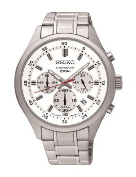 Relógio Seiko Casual / Lifestyle Prateado e Branco Homem
