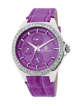 Relógio Burgmeister de Senhora Roxo