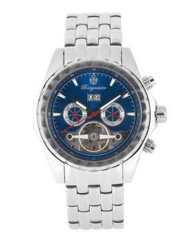 Relógio Burgmeister Homem Valencia Prateado e Azul