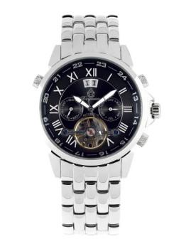 Relógio Burgmeister Homem California Prateado e Preto