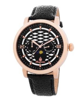 Relógio Burgmeister Akron Preto e Dourado Rosa