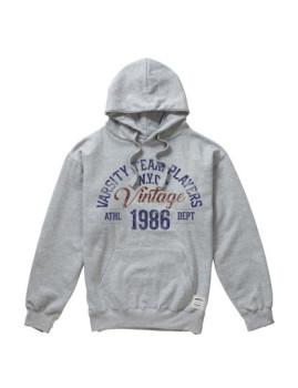 Hoodie Vintage Cinza Sports