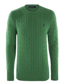 Pullover Ralph Lauren decote redondo Homem Verde