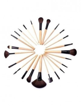 24 pinceis profissionais de maquilhagem