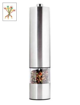 Pimenteiro Eléctrico Inox ( Luz Na Parte Inferior ) Necessário 4 Pilhas Aa/1,5 V