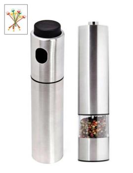 Pimenteiro Inox + Spray Azeite/Vinagre Inox